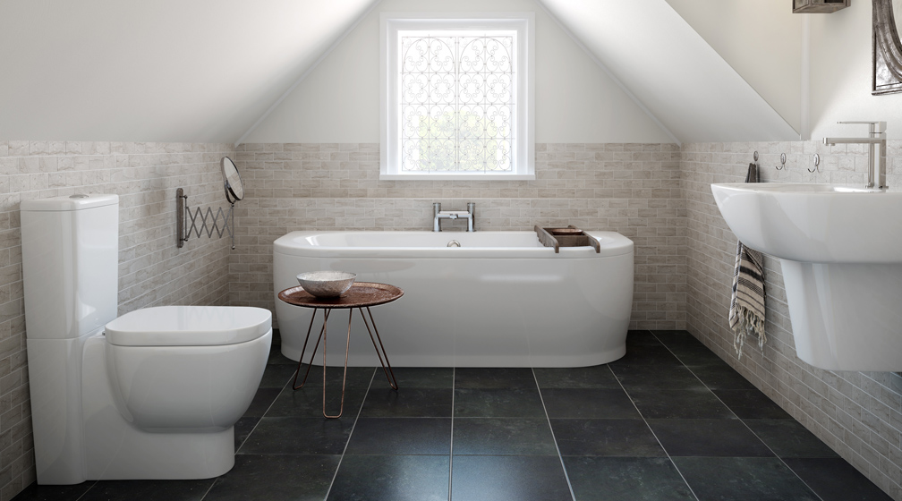 fascinating-floring-slate-in-bathroom-with-white-bathtubs-and-contemporary-toile