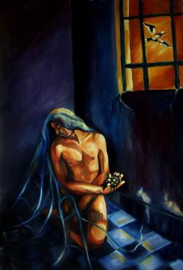Solitario preso de sus irrealizados deseos