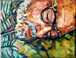 La siesta de Guillermo 24x30