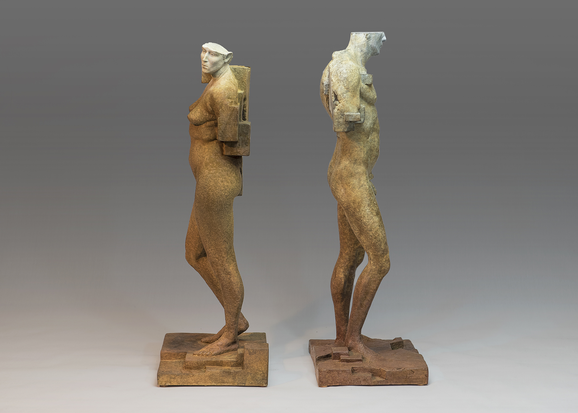 """Male and Female study"" 19""x6""x7"""