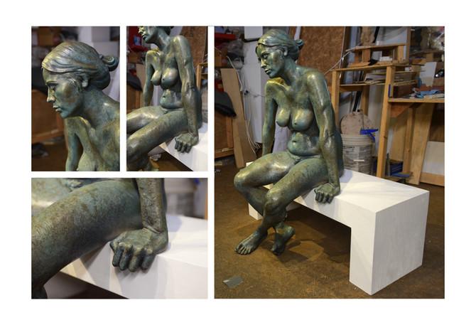 Life-Size Bronze Garden Sculpture