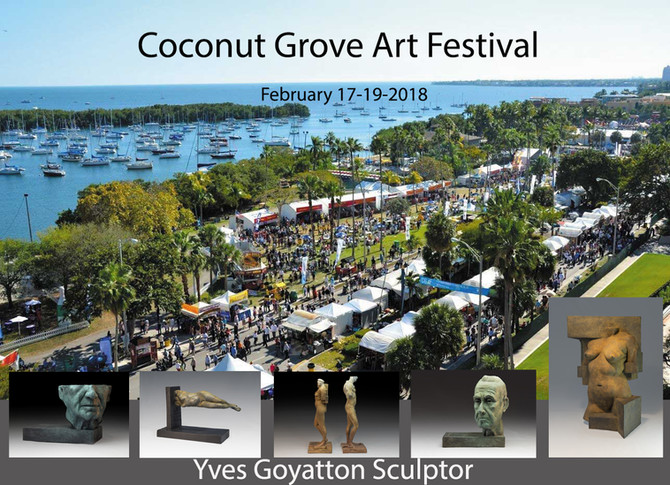 I will be part of the Coconut Grove Art Festival. February 17-19-2018