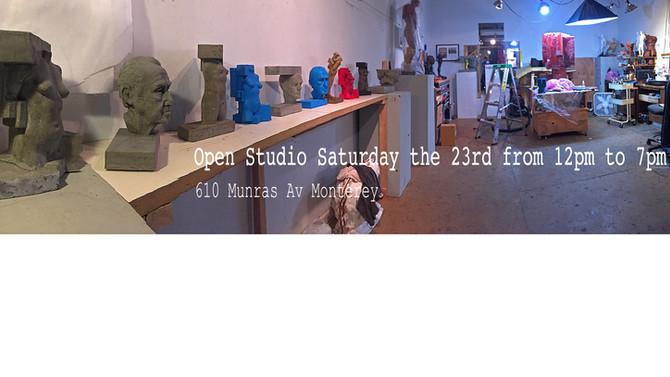 Open studiocoming up September 23 12-7pm  610 Munras av in Monterey  