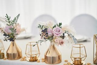 Wedding decoration in boho style.Light c