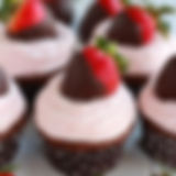 Chocolate-Dipped-Strawberry-Cupcakes-Cel