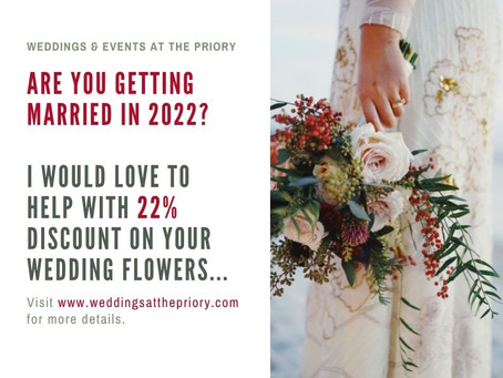 Special Offer For 2022 Weddings...