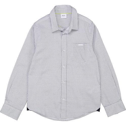 BOSS white patterned shirt