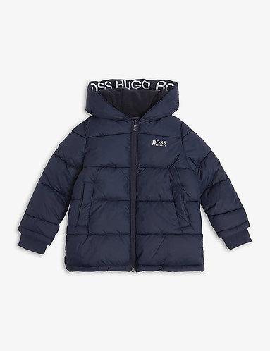 BOSS navy blue puffer jacket