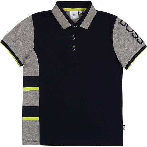 BOSS navy blue short sleeve polo t-shirt