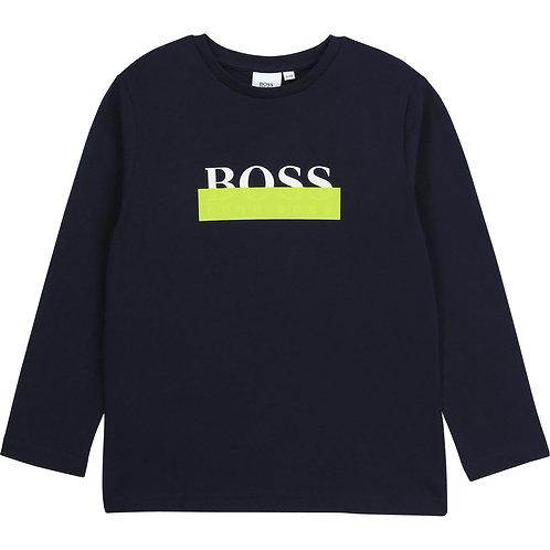 BOSS navy long sleeve t-shirt