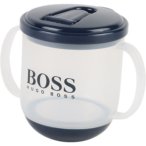 BOSS sippy cup with blue lid