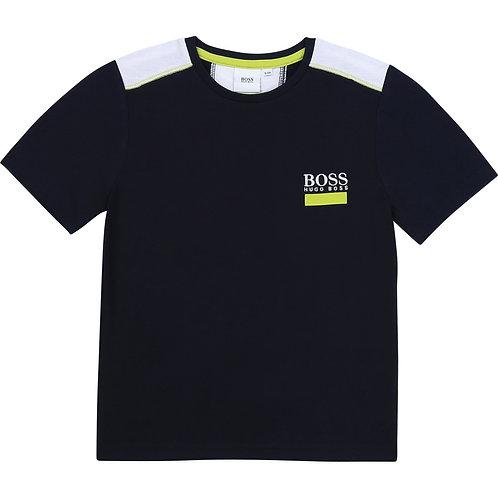 BOSS navy blue short sleeve t-shirt