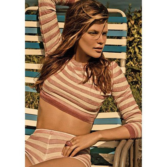 Instagram - #girl in #pinkandwhite #stripes on a #blueandwhite #striped #deckcha