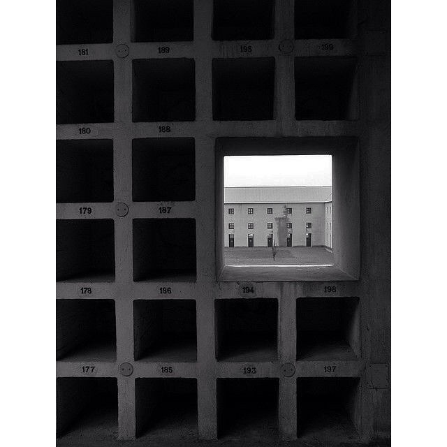 Instagram - #SanCataldo #Cemetery | #AldoRossi  #Architecture #Photography #Blac