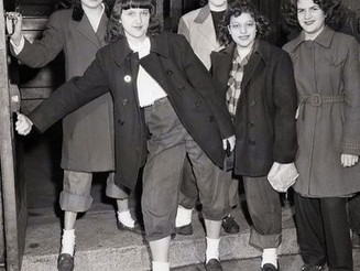 "#teddygirls being #senthome from #McKinleyHighSchool for #wearing ""#dungarees"" and ""#slickers,"" #194"