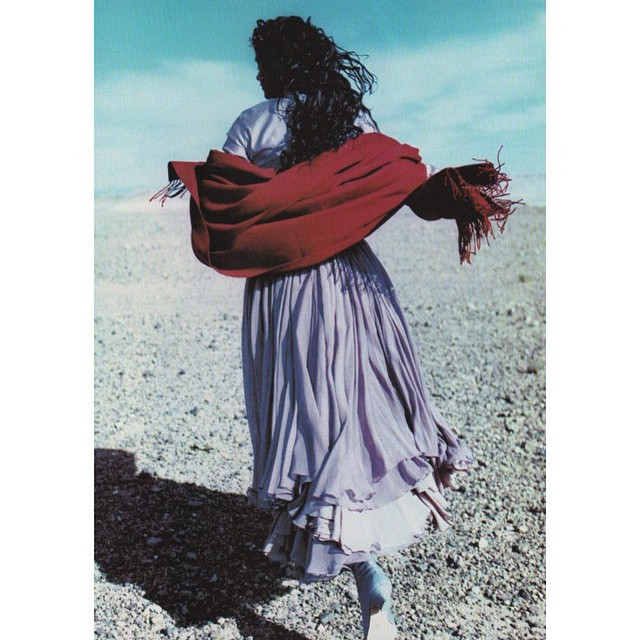 """Instagram - """"Le Souffle Des Couleurs"""", #VogueFrance, #December #1992 #Model : #H"""