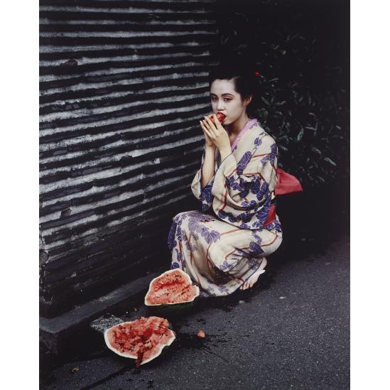 Geisha Girl with Watermelon, 1992, Nobuyosh Araki.png
