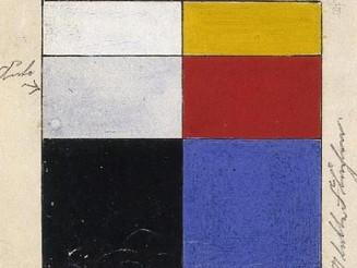 the #elementaire #colours of #deStijl by #VanDoesburg Left: #passive #colors. Right: #active #colors