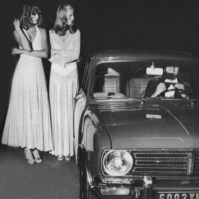Instagram - #1971 #twomodels #photoshoot #standing by a #car #white #dresses #re