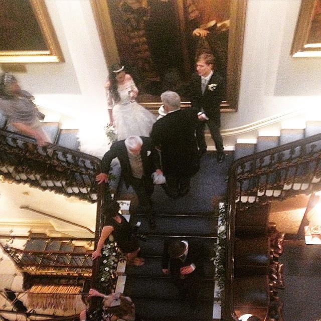 Instagram - #Fairytale #Wedding #bride #groom #comingsandgoings #staircase #carl