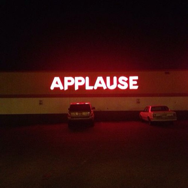 Instagram - #seenSaidHeard #Vote #applause #neonlight #red #ontheroad #stopoff #
