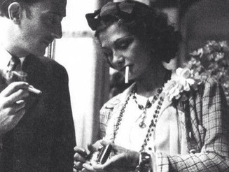 #Chanel + #Dali  #SalvadorDalí and #CocoChanel #sharing a #smoke. (#1938) #BlackandWhite #Archives #