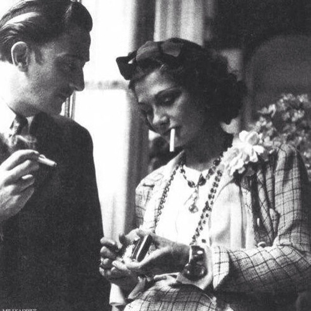 Instagram - #Chanel #Dali  #SalvadorDalí and #CocoChanel #sharing a #smoke.jpg