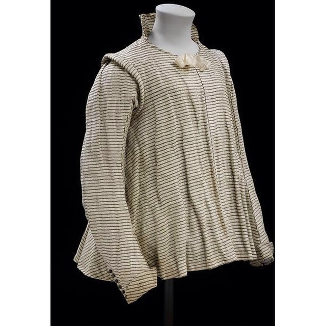 Instagram - #ENGLAND~ #1605-#1620: #Linen #striped with #silk and #silver strip,