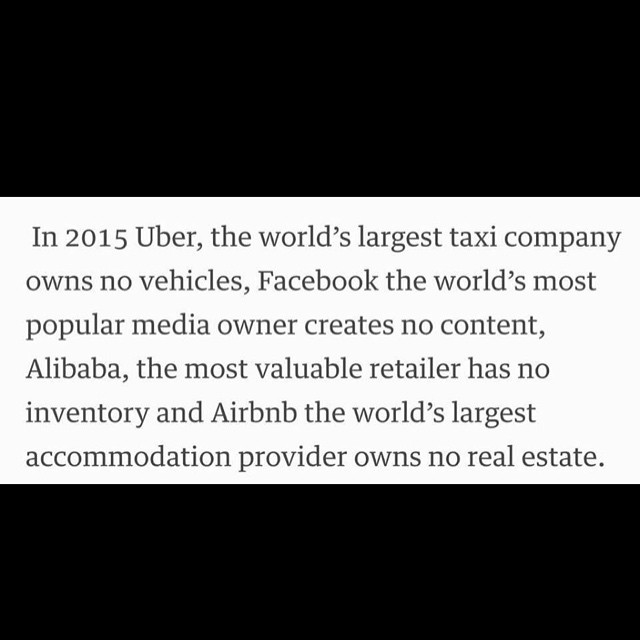 Instagram - #uber #facebook #alibaba #Airbnb #foodforthought
