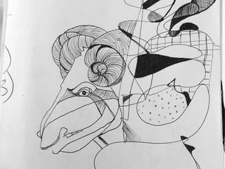 #Ram #Doodle From #my #notebook #emilyrosecostumes #emilyroseyiaxis #scrapbook #blackandwhite #art
