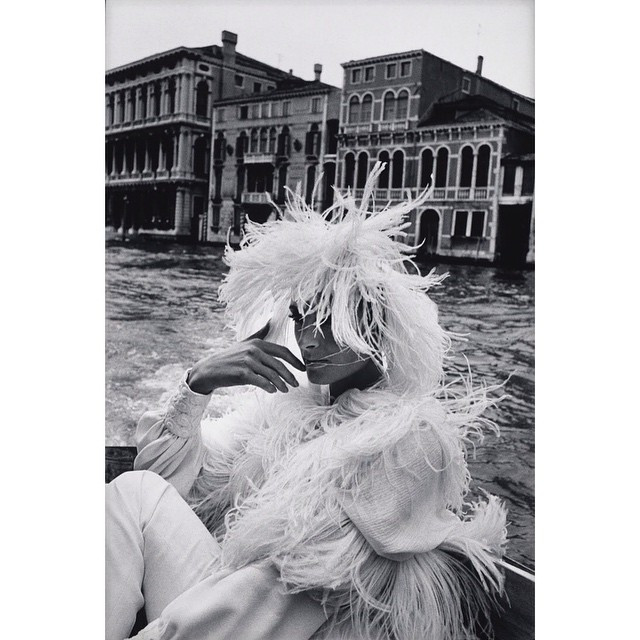 Instagram - #Photo: #FCGundlach, #1960's  #feathers #hat #venice #boat #fashions