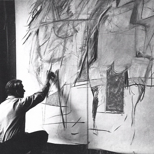 Instagram - #WilliamDeKooning #DeKooning in his #studio #BlackandWhite #archives