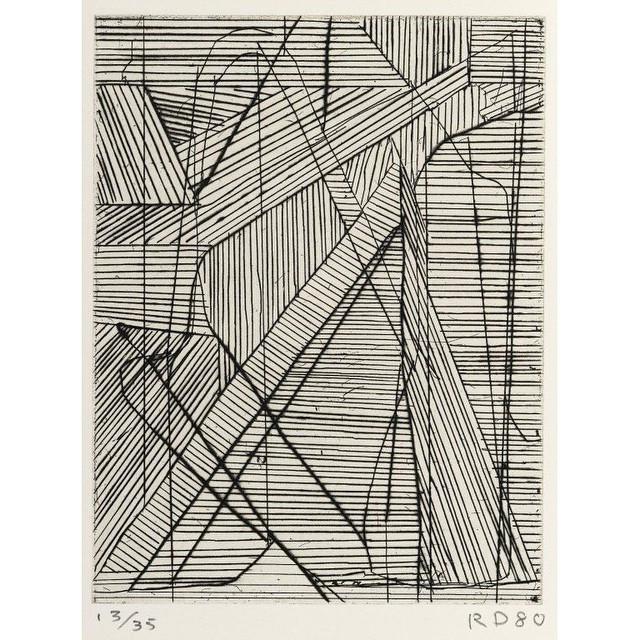 Instagram - #RichardDiebenkorn  #Irregular #Grid, #1980  #BLACKandWHITE #LINES o
