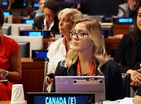 Jessica Helwig Represents Canada at the UN HLPF