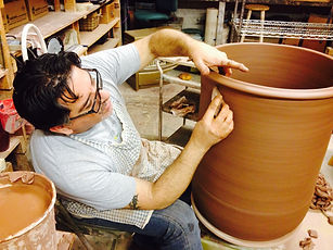 Custom Made Architectural Clay Pot