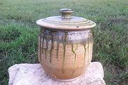 Ash Glaze Lidded jar