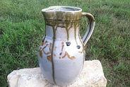 Ash Glaze Stoneware Pitcher