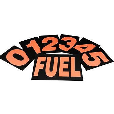 Standard Pit Board Numbers - Orange