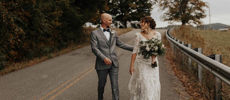 Carlie + Brandon | Knoxville, TN intimate wedding