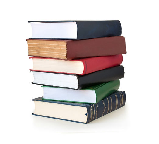 Books collection isolated on a white bac