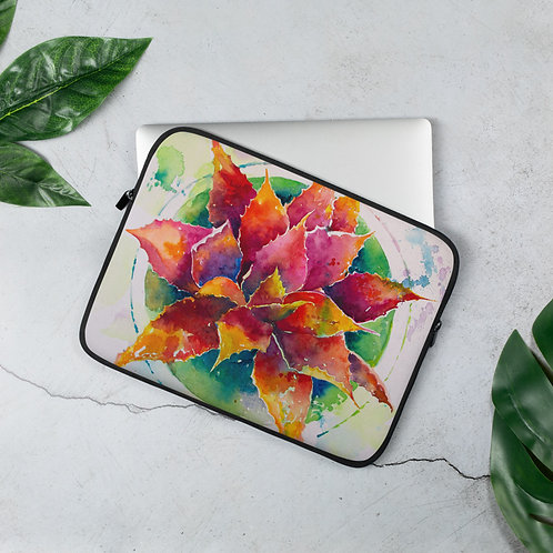 Laptop Sleeve Bold Agave by Roberta Rogers
