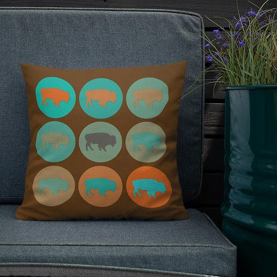 Premium Pillow, Buffalo Country, by Jen Prill