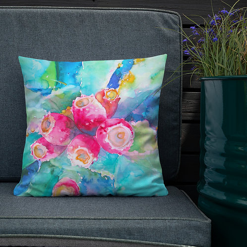 Premium Pillow, Prickly Pear by Roberta Rogers