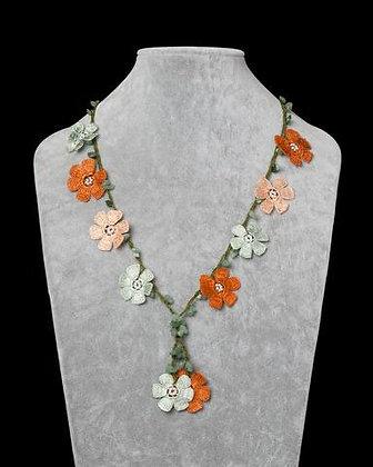 Lariat with Pomegranate Flowers - Orange