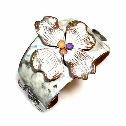 White Chocolate Dogwood Flower Cuff