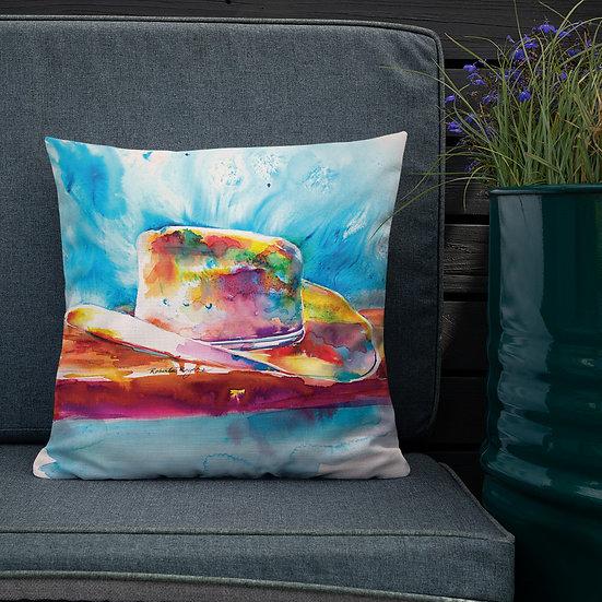 Premium Pillow, Cowboy Hat, by Roberta Rogers