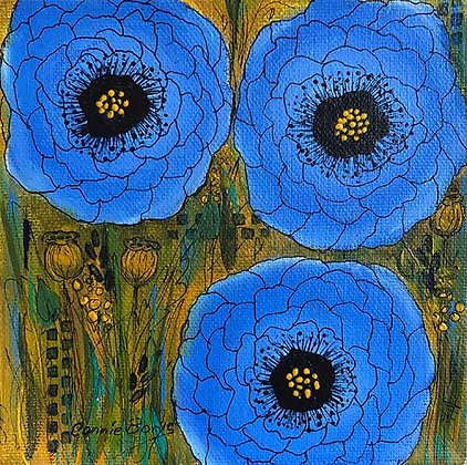 Blue Poppies small