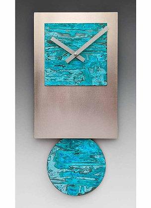 Steel Tie Pendulum Clock with Verdi Face