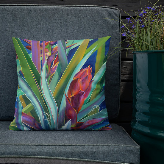 Premium Pillow, Banana Yucca, by Jaccie Weller