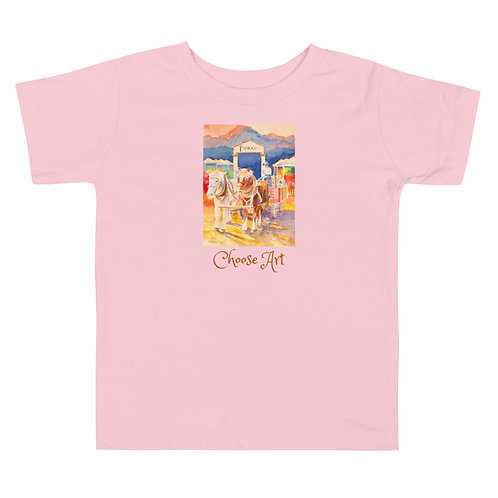 Toddler Short Sleeve T of Tubac Festival by Roberta Rogers